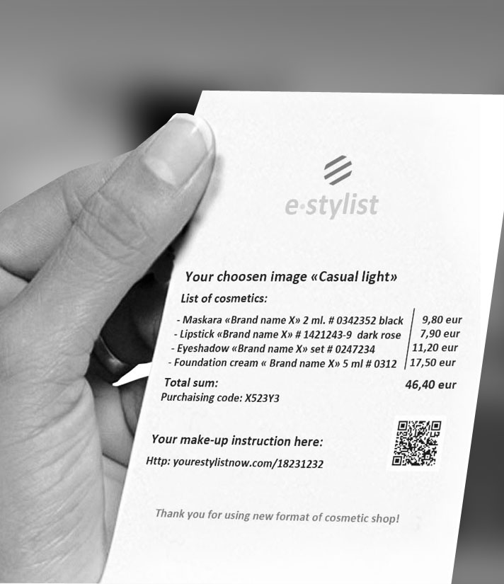 E-stylist - new format of cosmetic shop - S  Qlare