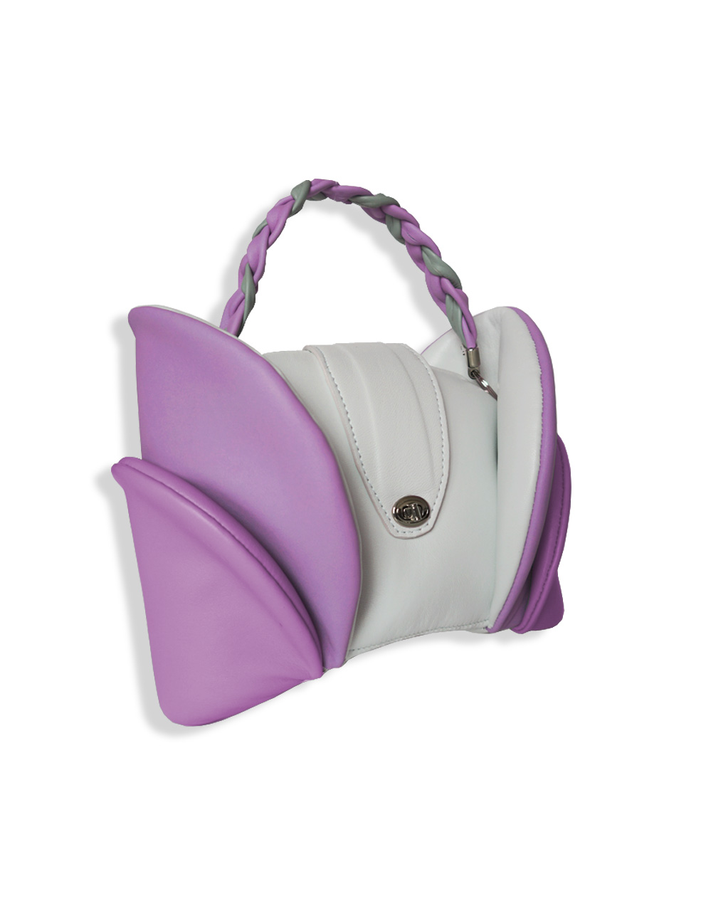 A small elegant and structured bag conveys the theme of nature and flowers. Made by hand, it using high-quality genuine leather and eco-friendly materials and designed for demanding customers.