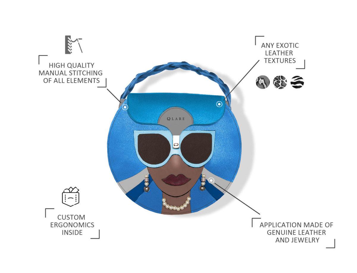 pop art style bag designer stas qlare shvechkov