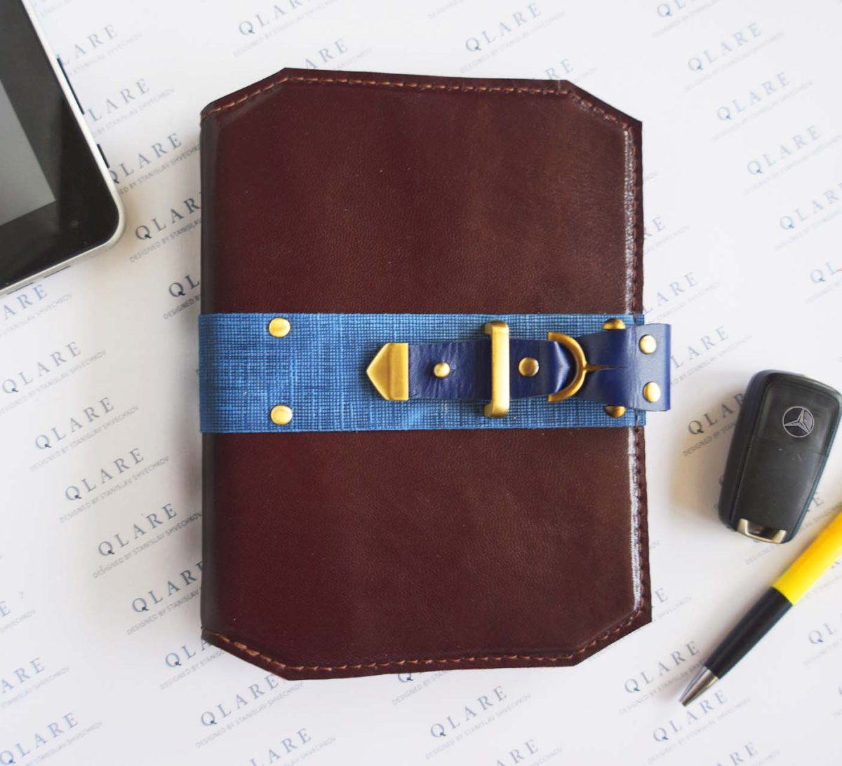 leather daily planner 2022 collection stas qlare shvechkov
